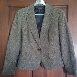 Nine West brown tweed skirt suit sz 12